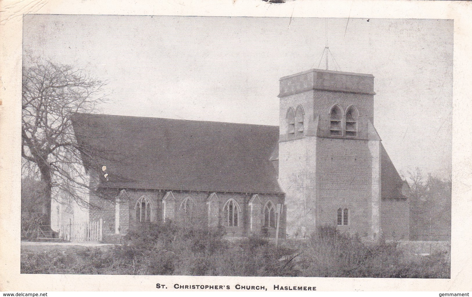 HASLEMERE - ST CHRISTOPHERS CHURCH. DUPLEX P/MARK - Surrey