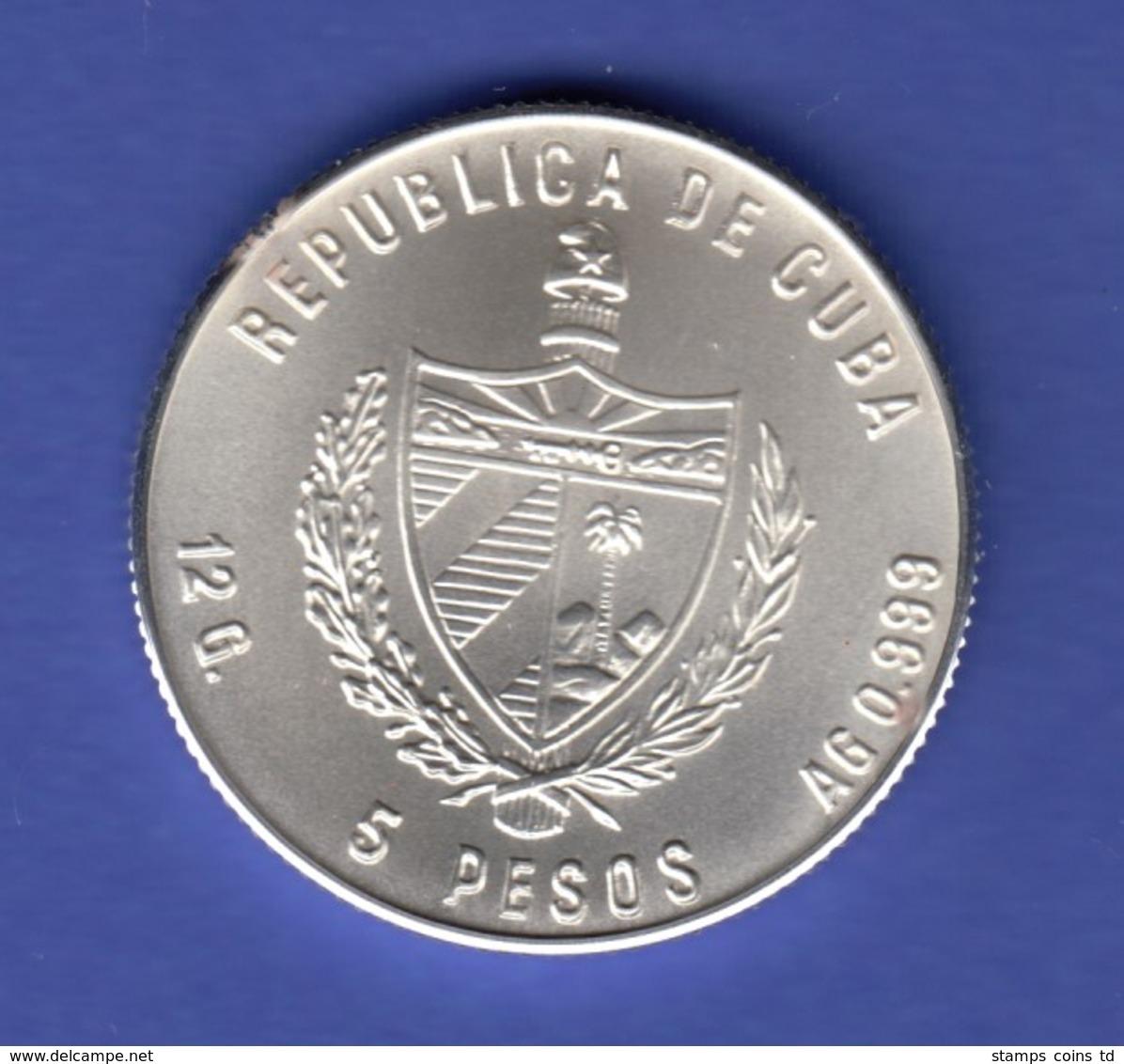 Cuba 5 Peso - Fußball Weltmeisterschaft 1986 In Mexico Ag999 - Autres – Amérique