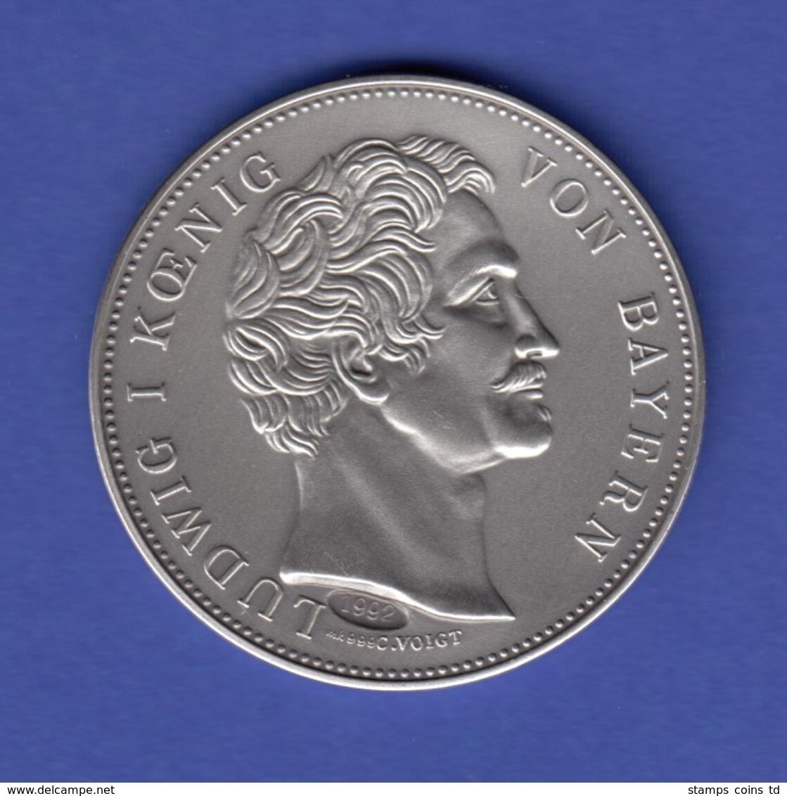 Silbermedaille Vermählung Kronprinz V. Bayern & Prinzessin V. Preußen Ag999 25g - Jetons & Médailles