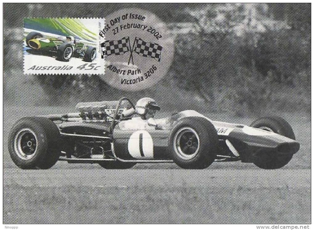 Australia-2002 Motor Racing Jack Brabham And Repco-Brabham, 1967 ,  Maximum Card - Cars