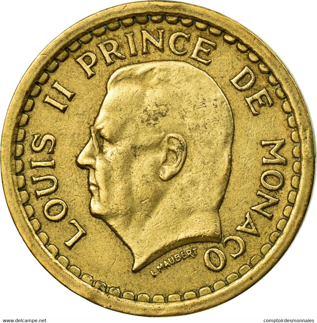 Monnaie, Monaco, Louis II, Franc, Undated (1943), TTB, Aluminium, Gadoury:132 - Monaco