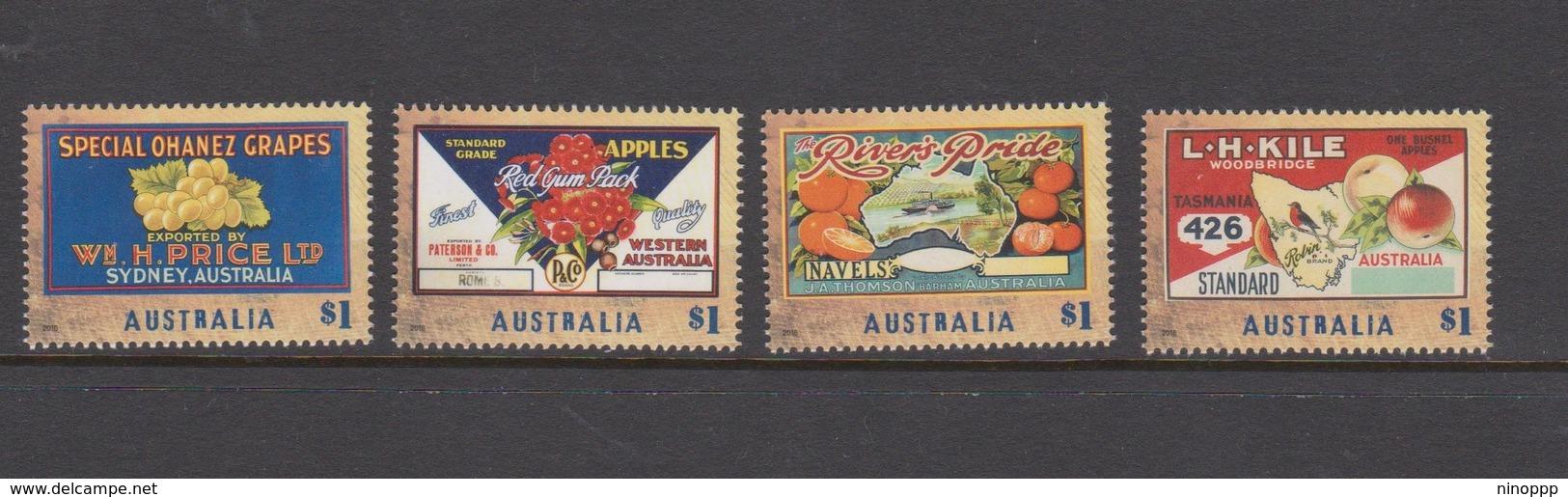 Australia ASC 3404-3407 2016 Nostalgic Fruit Labels ,mint Never Hinged - 2010-... Elizabeth II