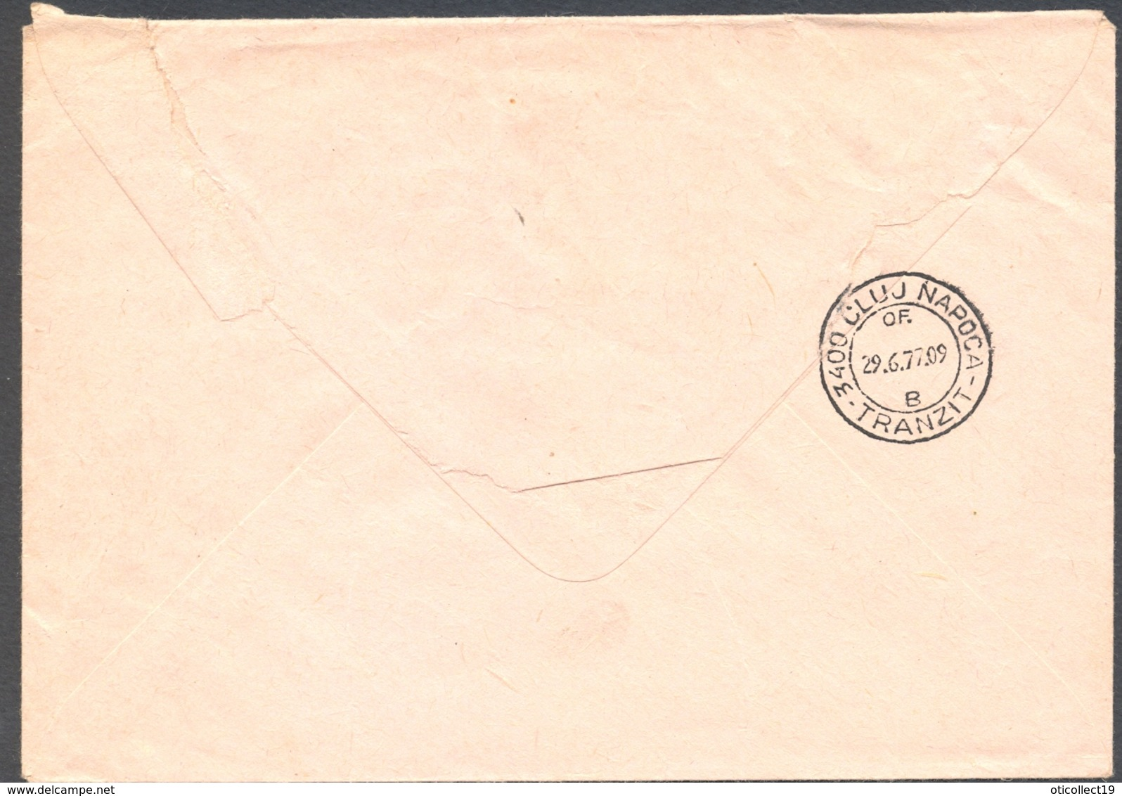 POSTAL SERVICES, TOKAJ TOWN, STAMPS ON REGISTERED COVER STATIONERY, 1977, HUNGARY - Postal Stationery