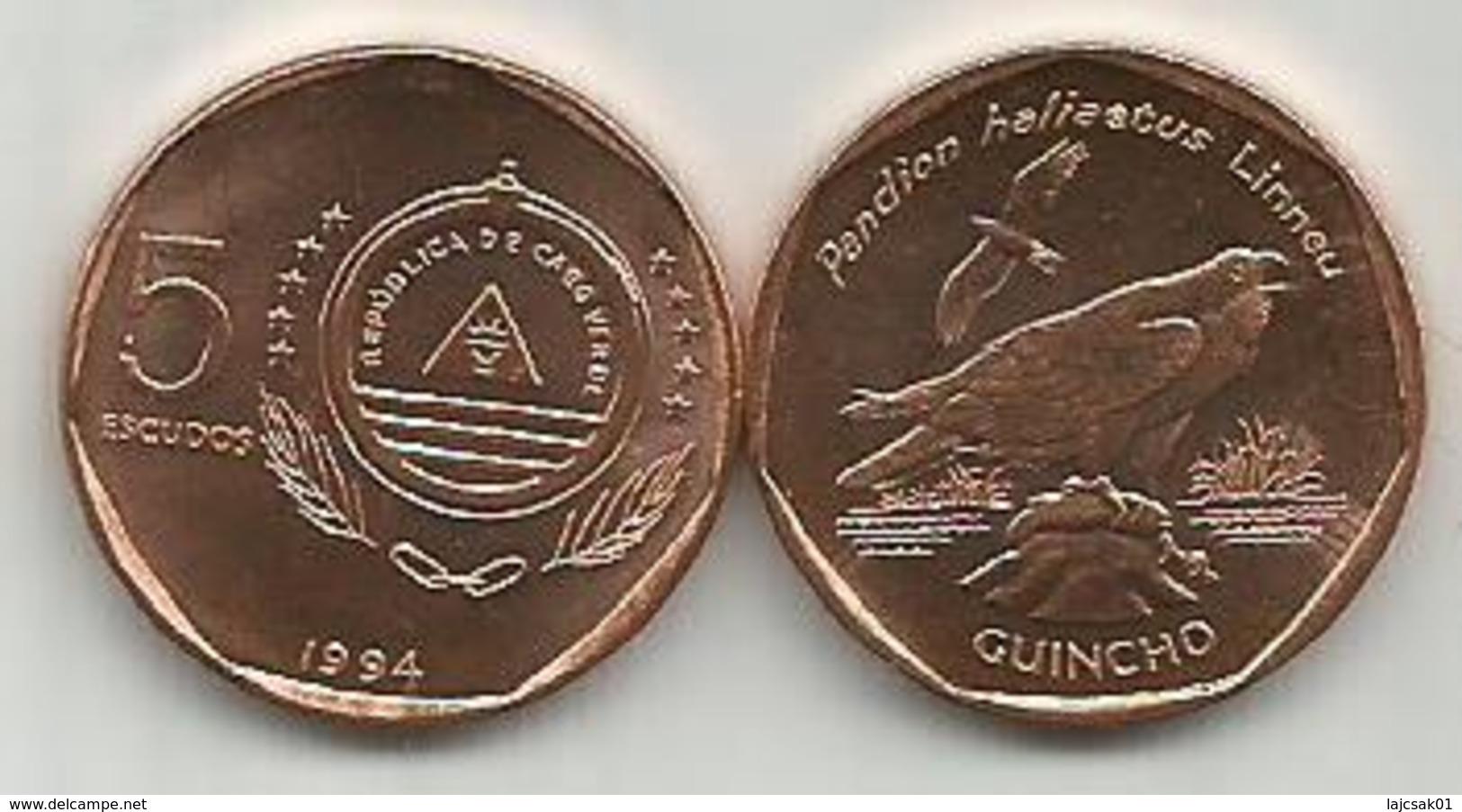 Cape Verde 5 Escudos 1994. High Grade - Cap Vert