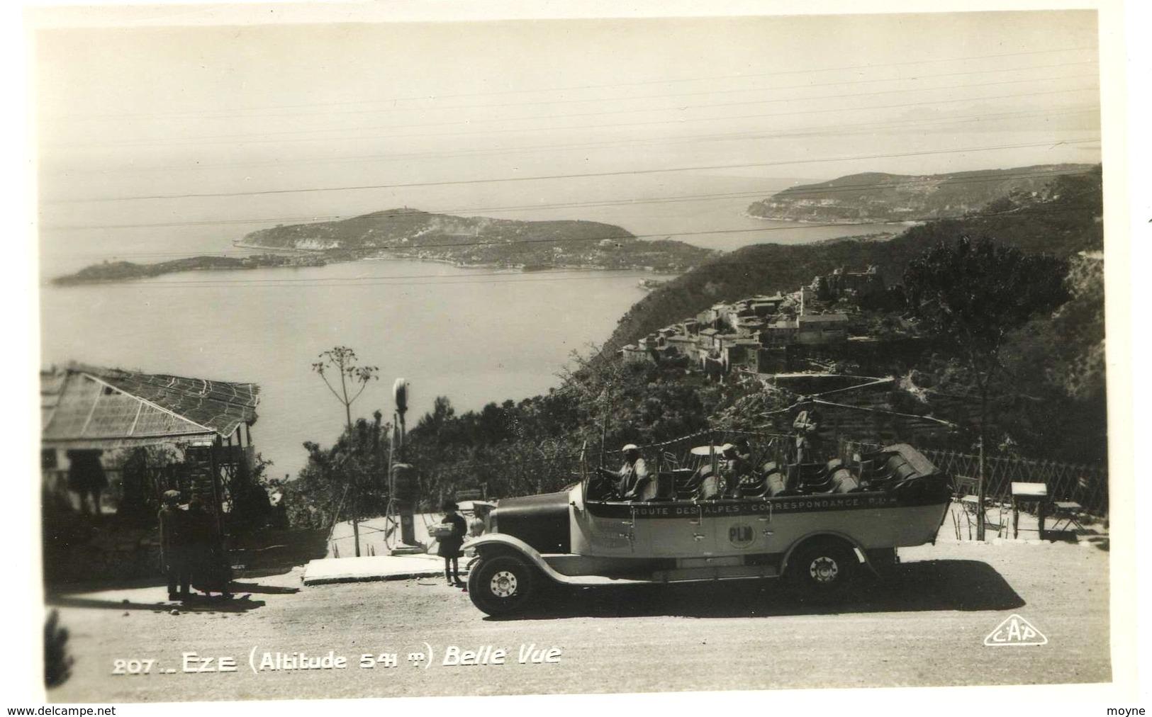 8791  -  Alpes Maritimes -  EZE : Autobus P.L.M.  Routes Des Alpes  Beau Plan - Eze