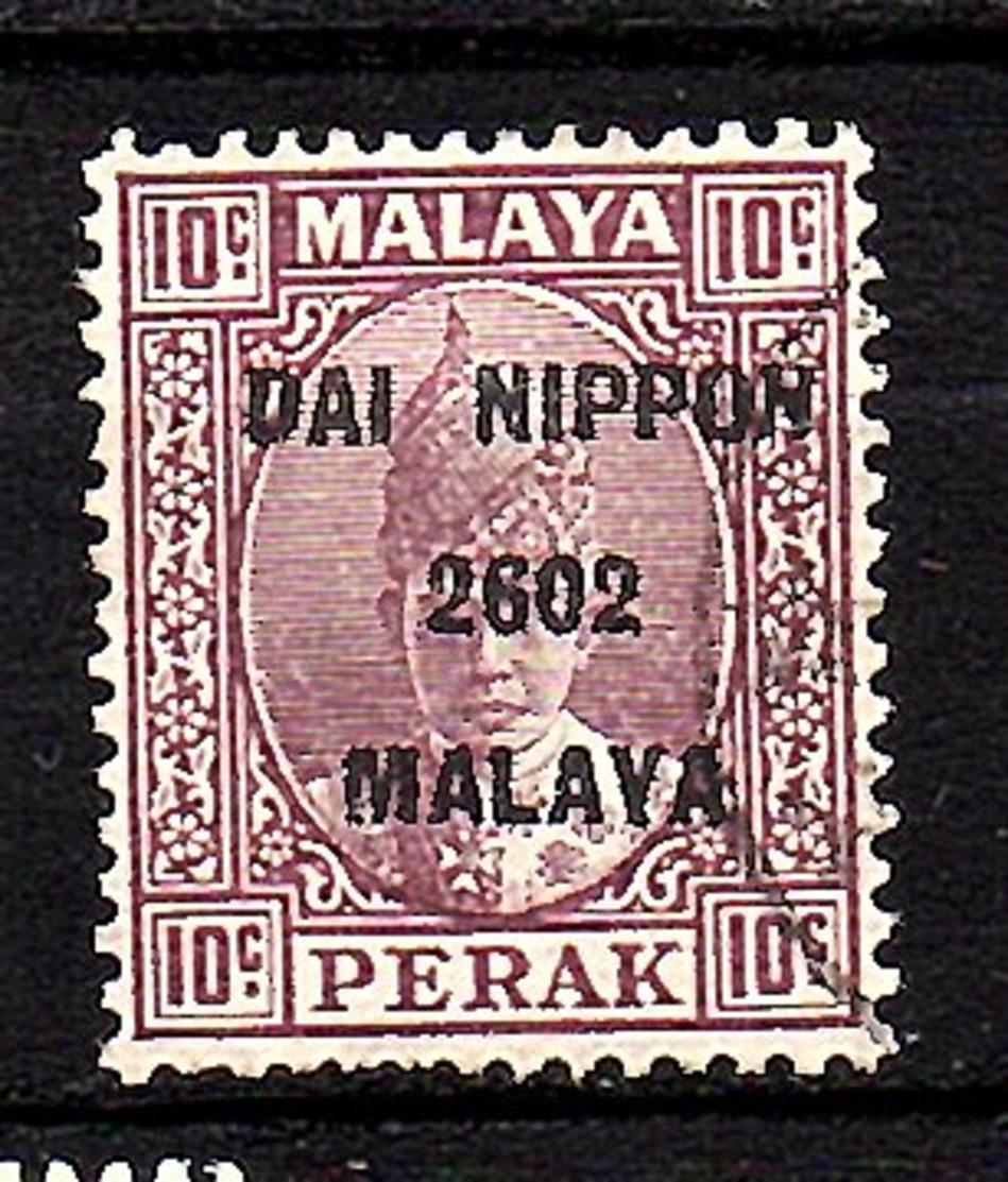 Japanese Occupation Perak 10 Cents Used (Jo6) - Ocupacion Japonesa