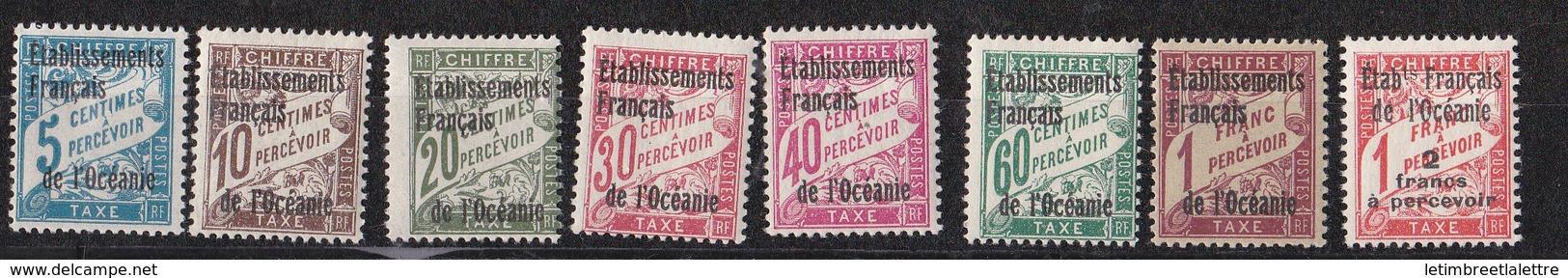 Océanie N ° 1 à 8** TAXE - Oceanië (1892-1958)