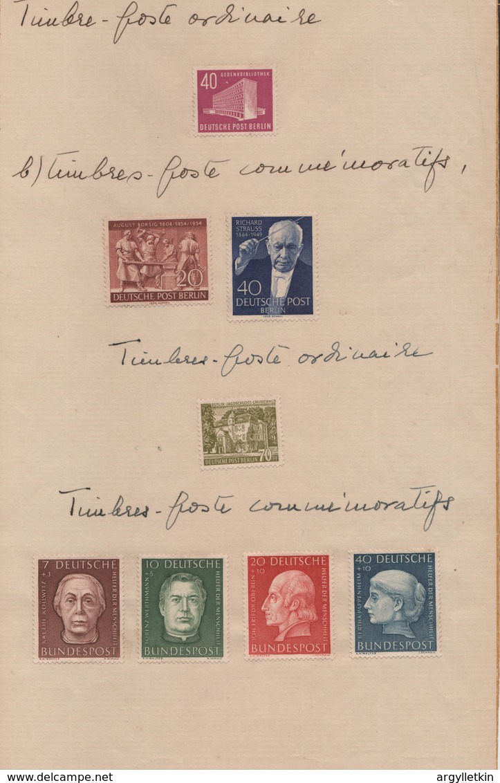 GERMANY 1948/59 BUNDESREPUBLIK BERLIN FRENCH ZONE DDR AND SAAR - American,British And Russian Zone