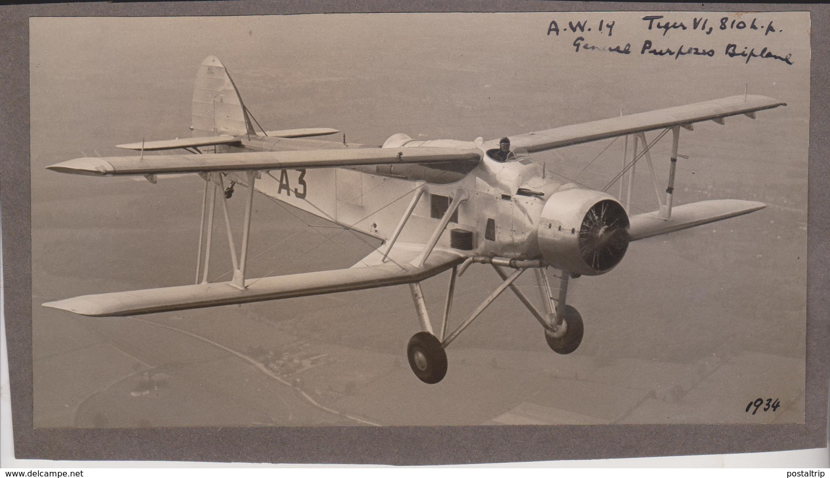 AW 19    Armstrong Whitworth  21 * 12 Cm Armstrong Whitworth British Great Britain - Aviación