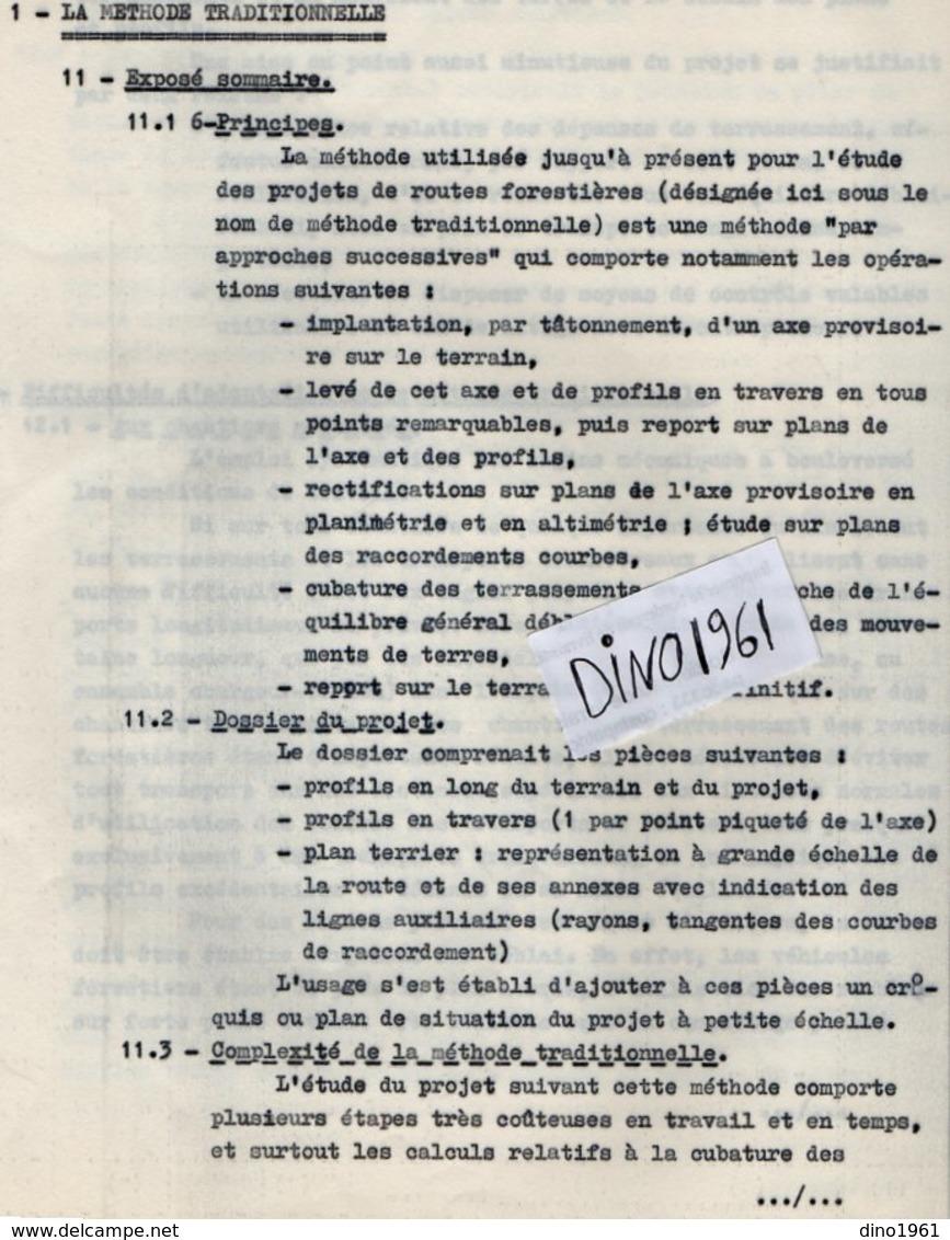 VP14.451 - NOGENT - SUR - VERNISSON 1968 - Document Du Centre Technique Forestier Domaine Des Barres - Collections