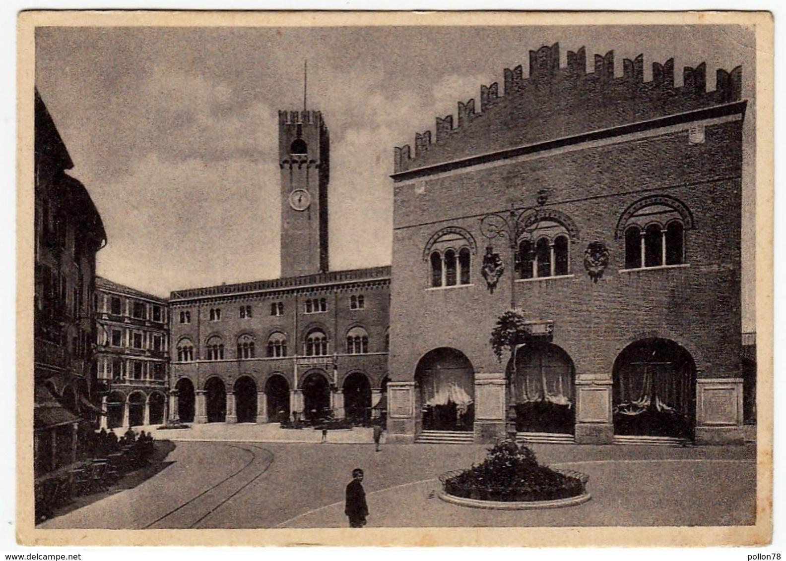 TREVISO - PIAZZA DEI SIGNORI - 1941 - Vedi Retro - Treviso