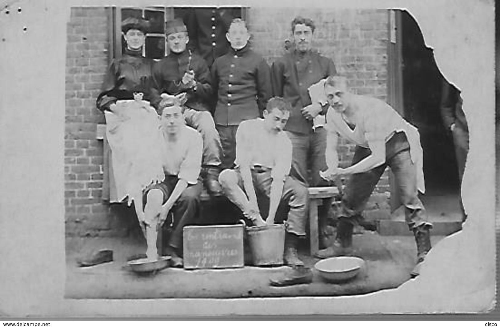 """Armée Belge Groupe De Soldats """"En Rentrant Des Manoeuvres"""" 1909 9 Chasseurs à Pied à Leopoldsburg - Guerre, Militaire"""