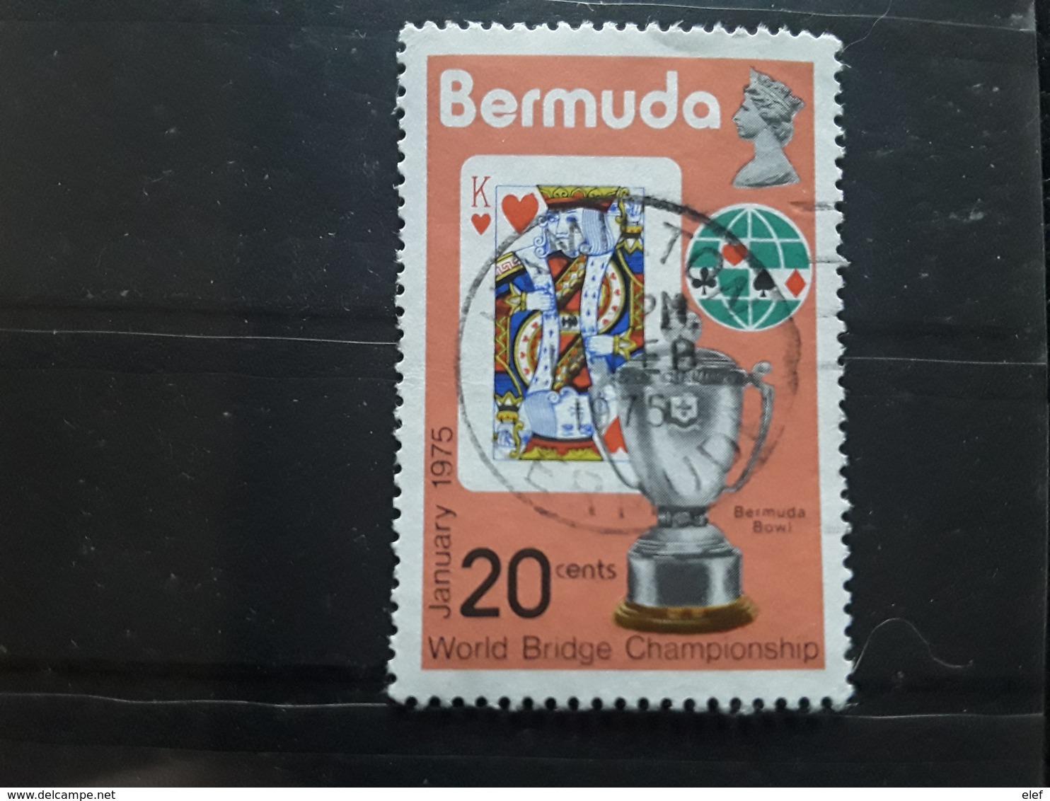 BERMUDA / Bermudes Queen Elisabeth II , Jeu De Cartes World Bridge Championship Playing Cards, Bermuda Bowl, 1975 Obl TB - Giochi