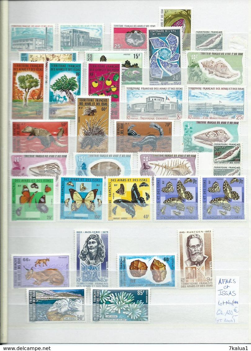 COLONIES FRANCAISES : Afars Et Issas, Lot Neuf **, Cote 120 €. - Collections (sans Albums)