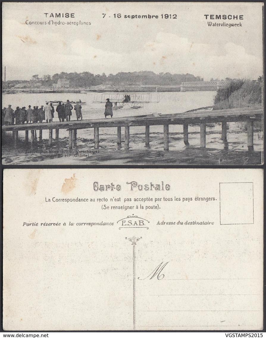 BELGIQUE CP DE TAMISE CONCOURS D HYDRO-AEROPLANES 1912 (DD) DC-2028 - Autres