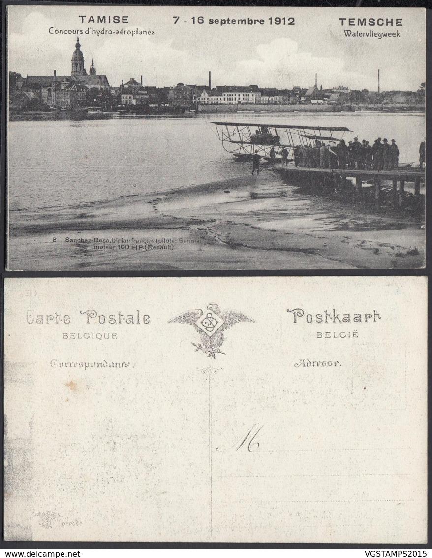 BELGIQUE CP DE TAMISE CONCOURS D HYDRO-AEROPLANES 1912 (DD) DC-2032 - Belgique