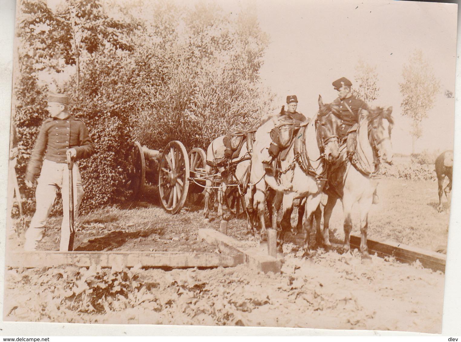 Maneuvers In Dendermonde - 31 Augustus 1897 - Foto Formaat 8 X 10.5 Cm - Guerre, Militaire