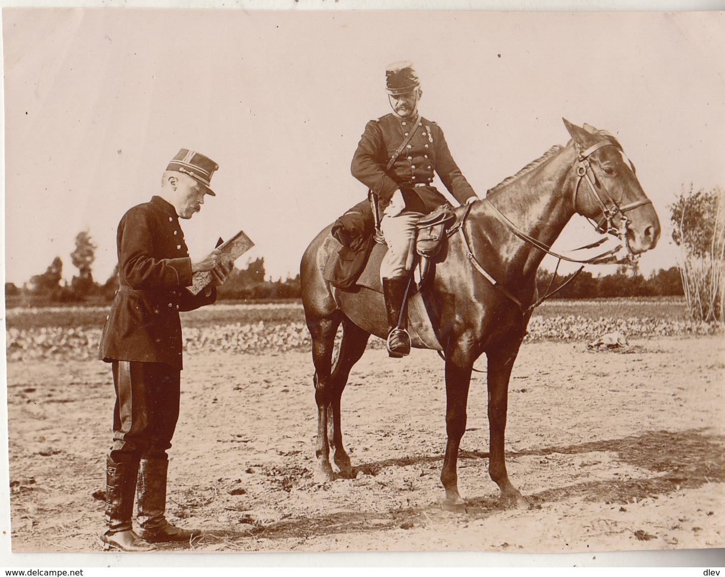 Maneuvers In Dendermonde - 31 Augustus 1897 - Ct Serdobbel - Foto Formaat 7.5 X 10 Cm - Guerre, Militaire