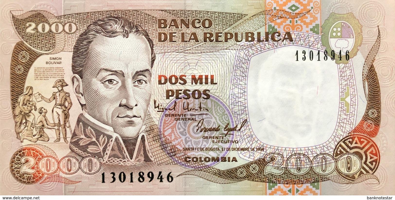Colombia 2.000 Pesos, P-439b (17.12.1994) - UNC - Colombie
