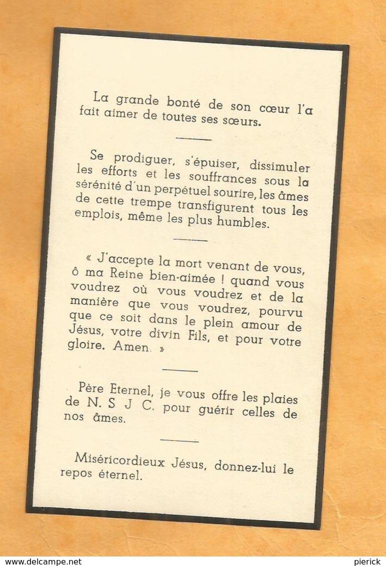 IMAGE GENEALOGIE FAIRE PART AVIS DECES  SOEUR MARIE PAULINE CELLE RELIGIEUSE DE LA PROVIDENCE 1945 - Décès