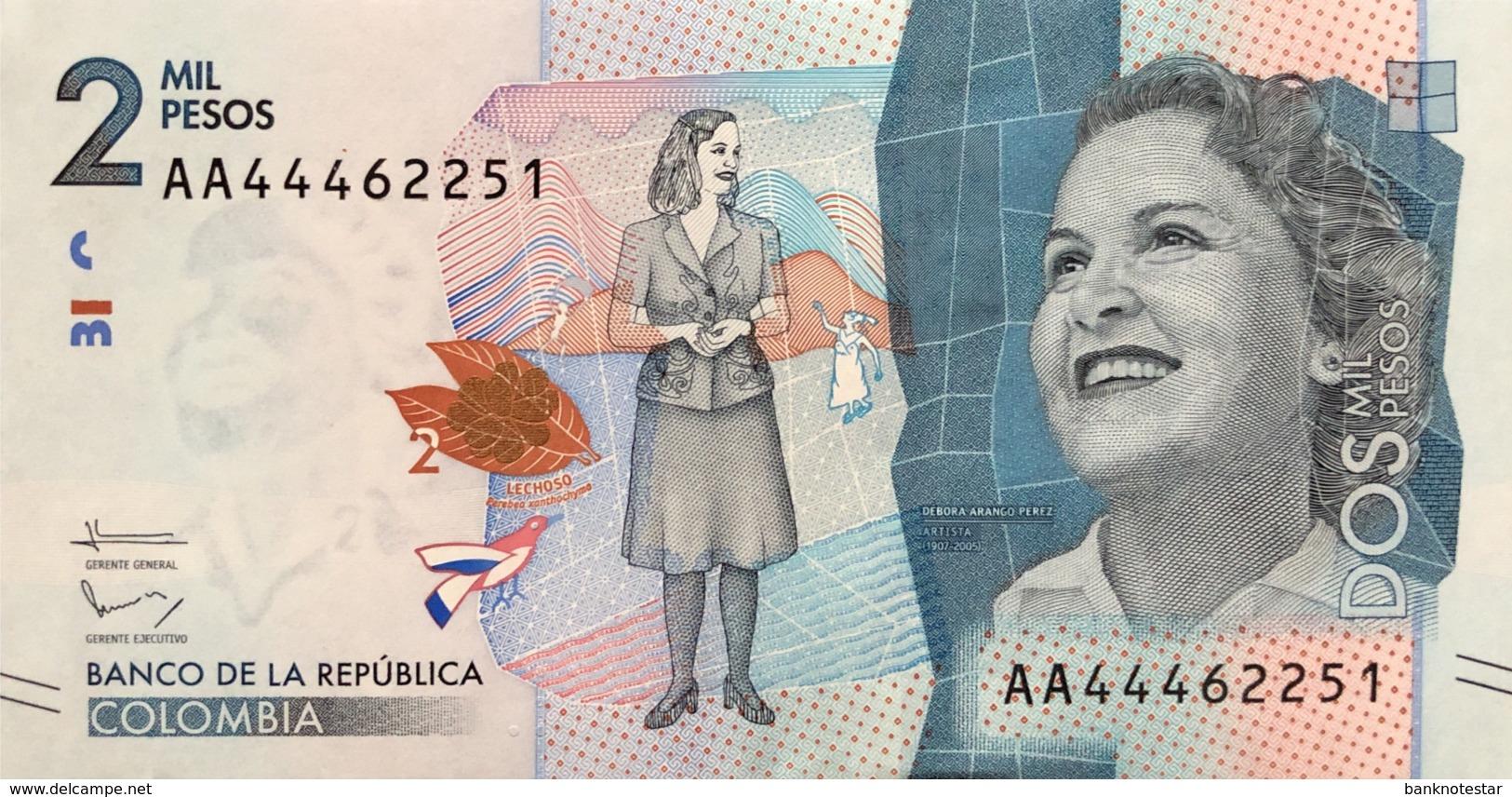 Colombia 2.000 Pesos, P-458 (19.8.2015) - UNC - Colombie