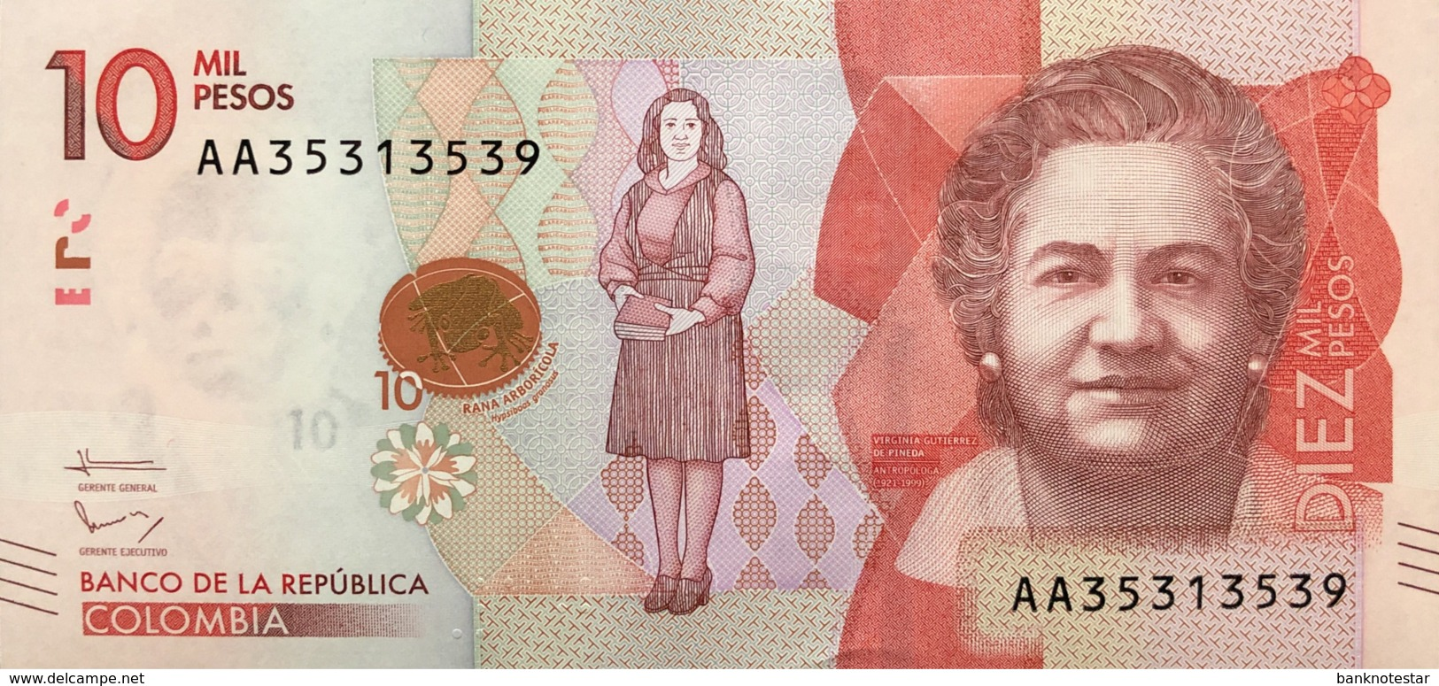 Colombia 10.000 Pesos, P-460 (19.8.2015) - UNC - Colombie