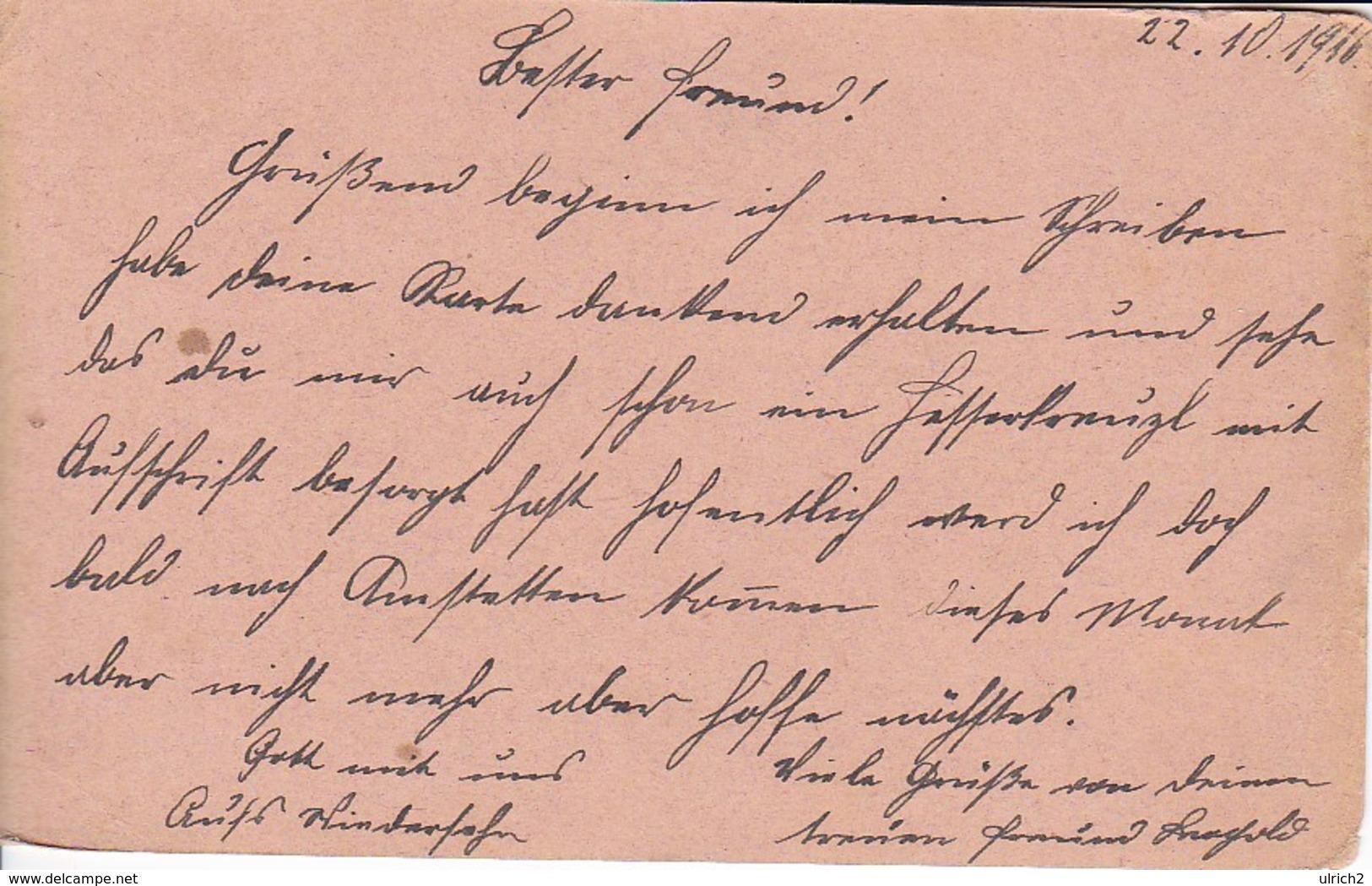 Feldpostkarte - Vereinsreservespital Des Roten Kreuzes - Brünn - 1916 (39308) - 1850-1918 Imperium