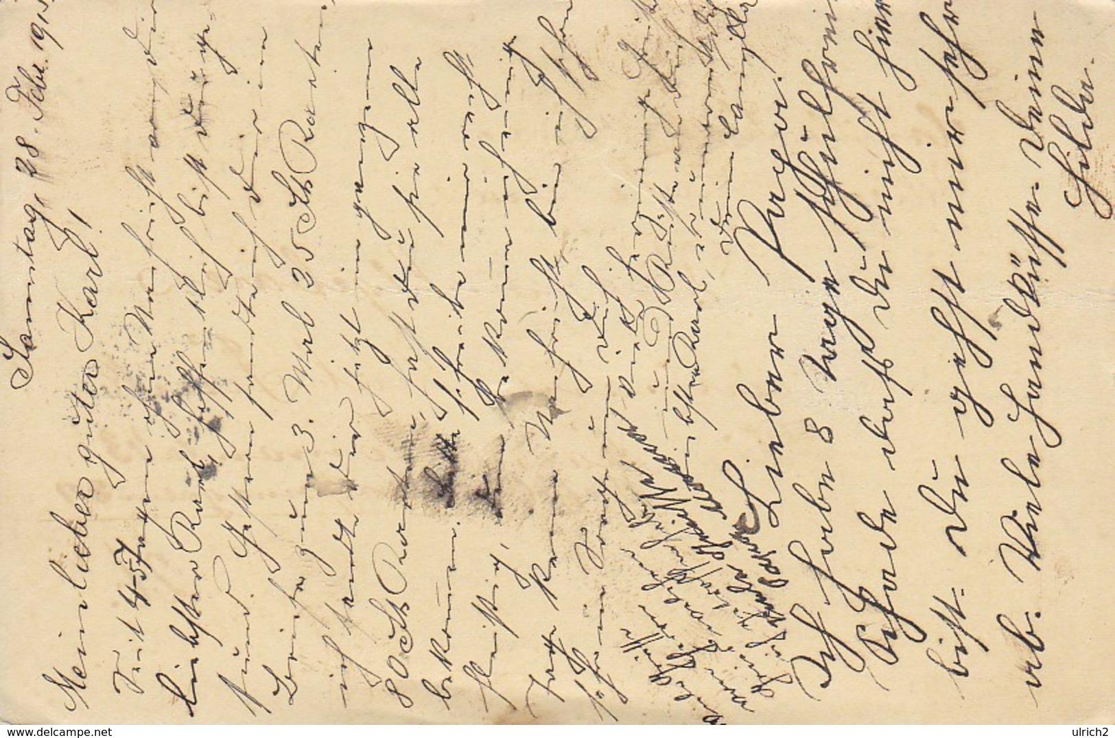Feldpostkarte - Wien An Div-Train-Kommando 43 - 1915 (39315) - Briefe U. Dokumente