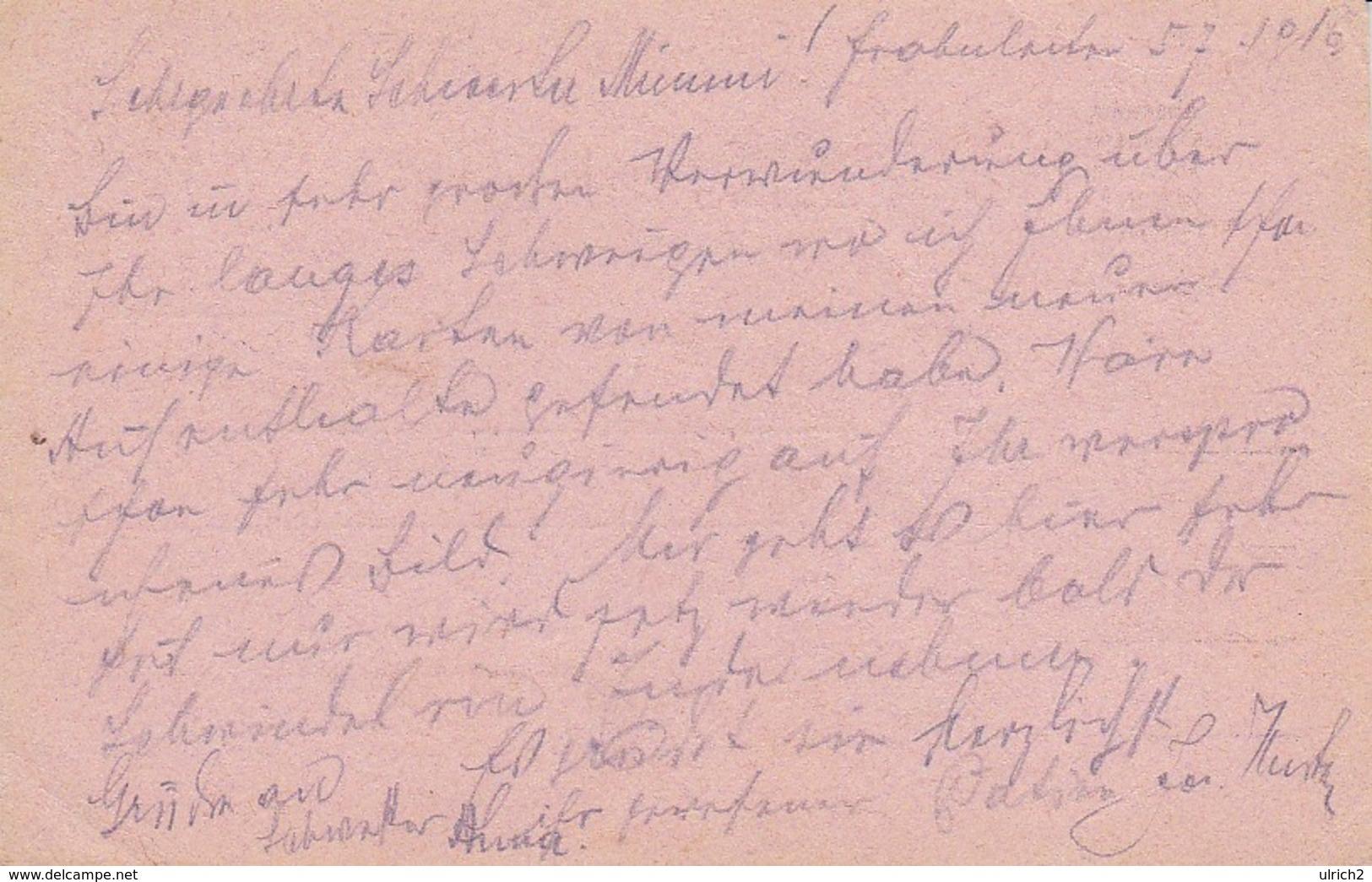 Feldpostkarte - Frohnleiten An Krems Reservespital - 1916 (39317) - Briefe U. Dokumente