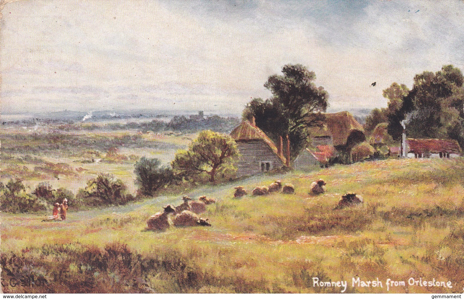 ROMNEY MARSH FROM ORLESTONE - England