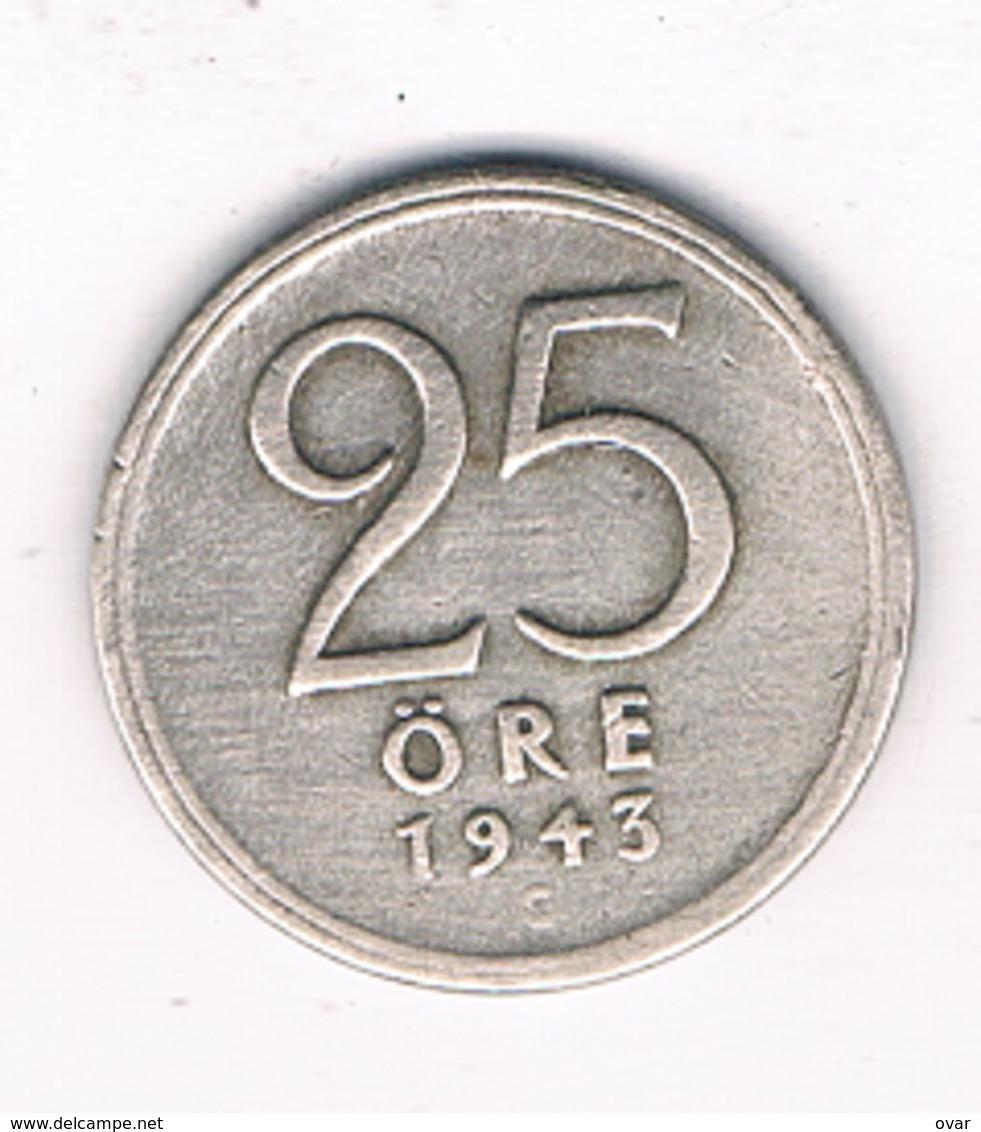 25 ORE  1943  ZWEDEN /1068/ - Schweden