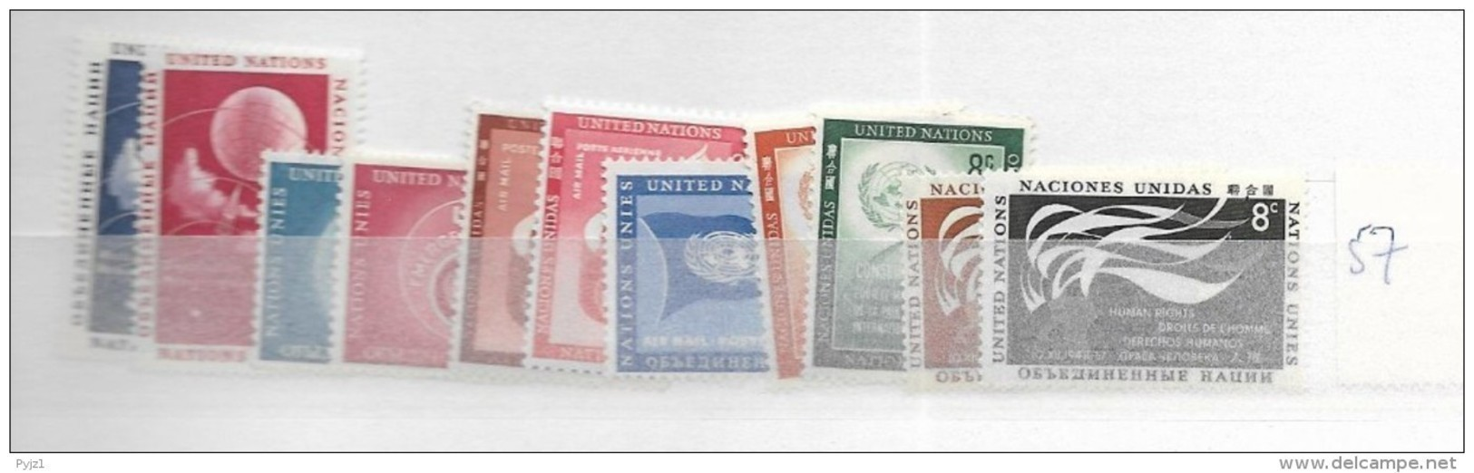 1957 MNH UNO New York,  Year Complete According To Michel, Postfris** - New York -  VN Hauptquartier