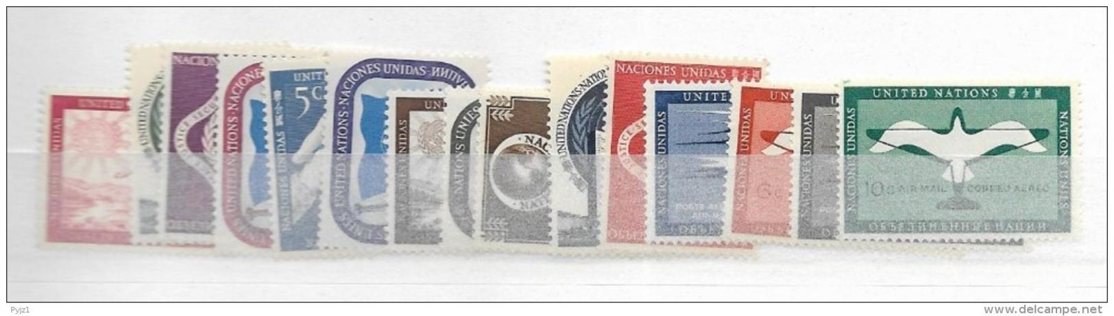 1951 MNH UNO New York,  Year Complete According To Michel, Postfris** - New York -  VN Hauptquartier