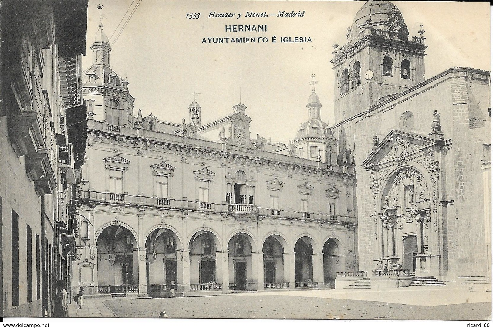 Cpa Hernani, Ayuntamiento é Iglesia - Espagne
