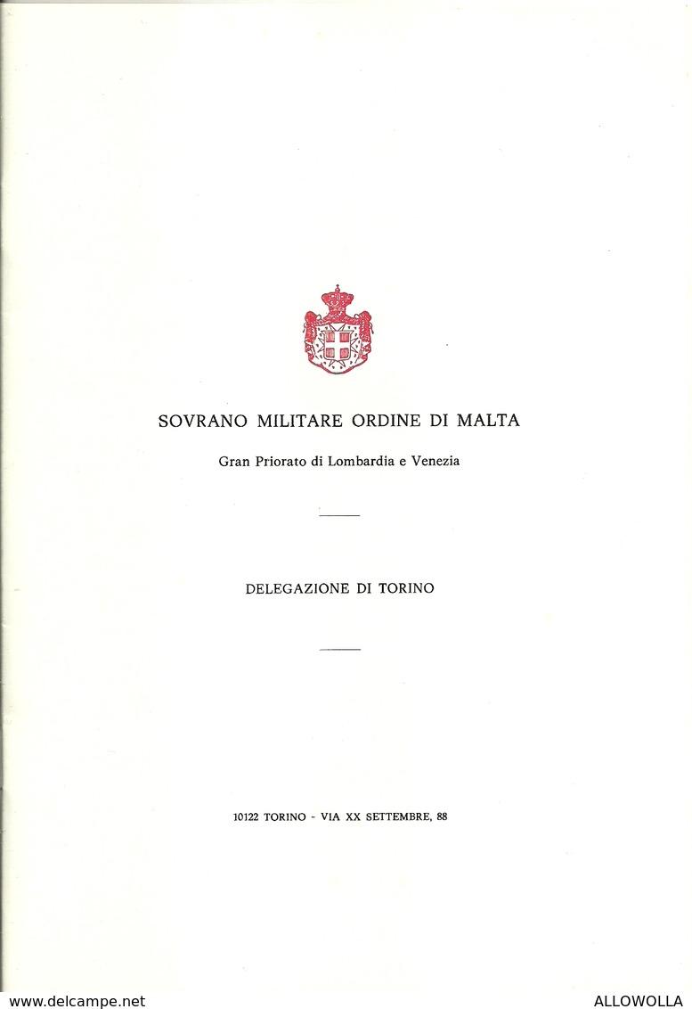 """2562 """" SOVRANO MILITARE ORDINE DI MALTA-DELEGAZIONE DI TORINO-BREVE STORIA DEL S.M.O.M.-28 PAGINE + COPERTINE"""" ORIGINALE - Altri"""