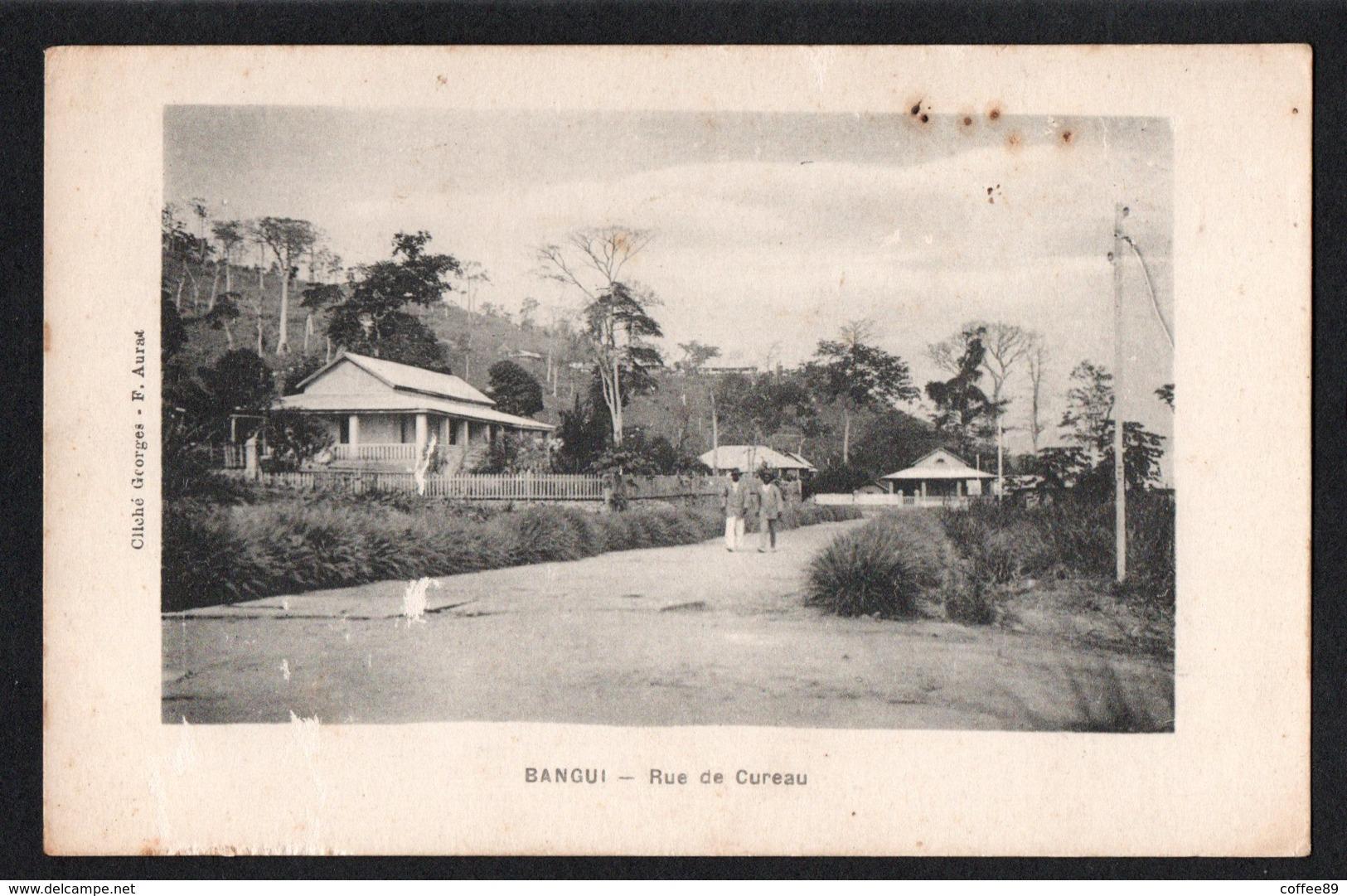 CENTRAFRIQUE - BANGUI - Rue De Cureau - Cliché Georges F. Aurat - Centrafricaine (République)