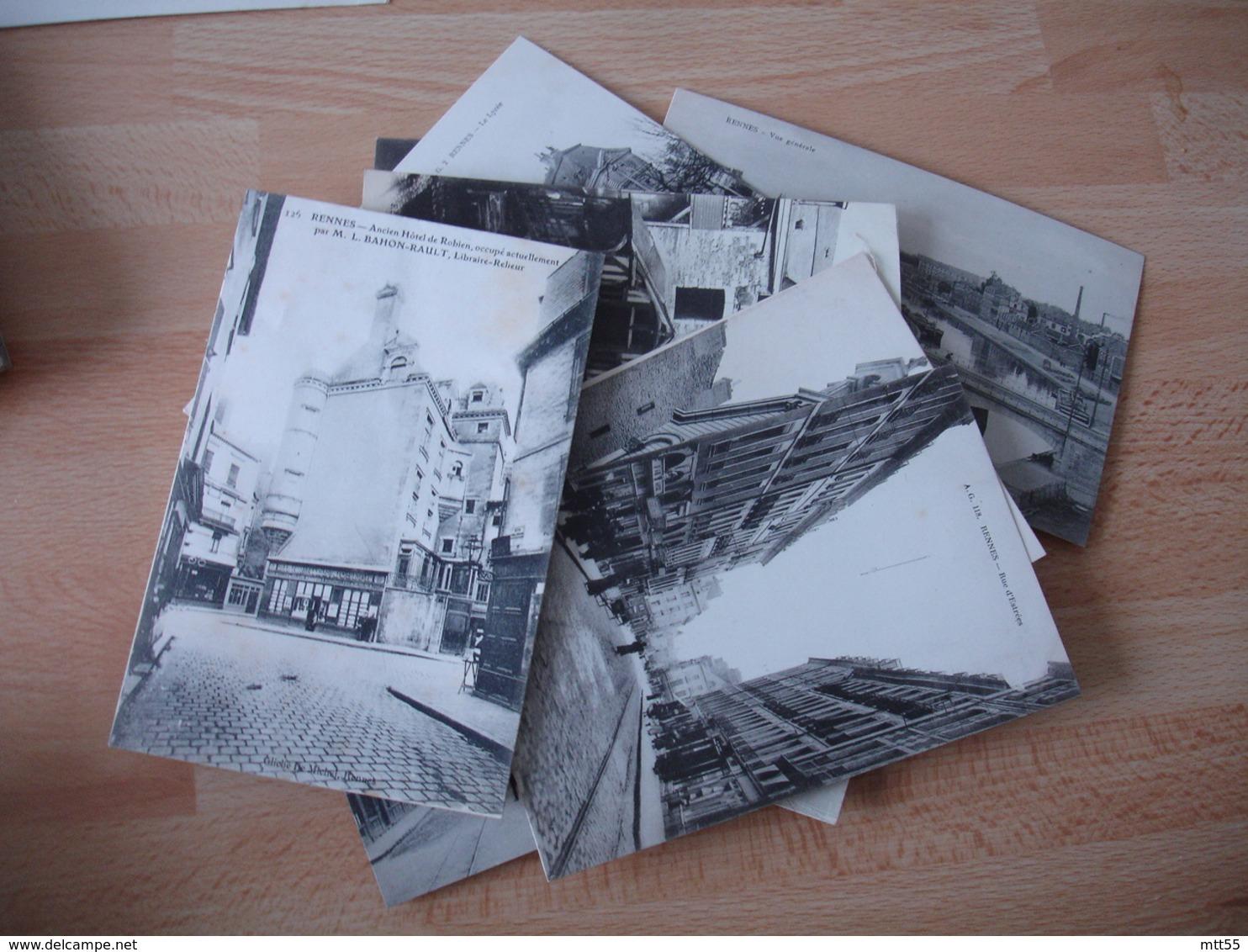 Lot 21 Cartes Rennes Rue Animation Vue Generale Tout En Photo - Rennes