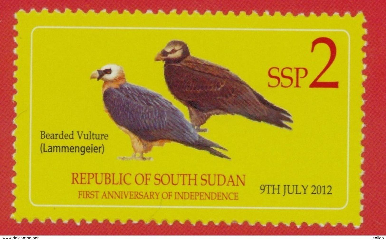 SOUTH SUDAN 2nd Issue = Süd-Sudan 2 SSP Birds Oiseaux SOUDAN Soedan - South Sudan