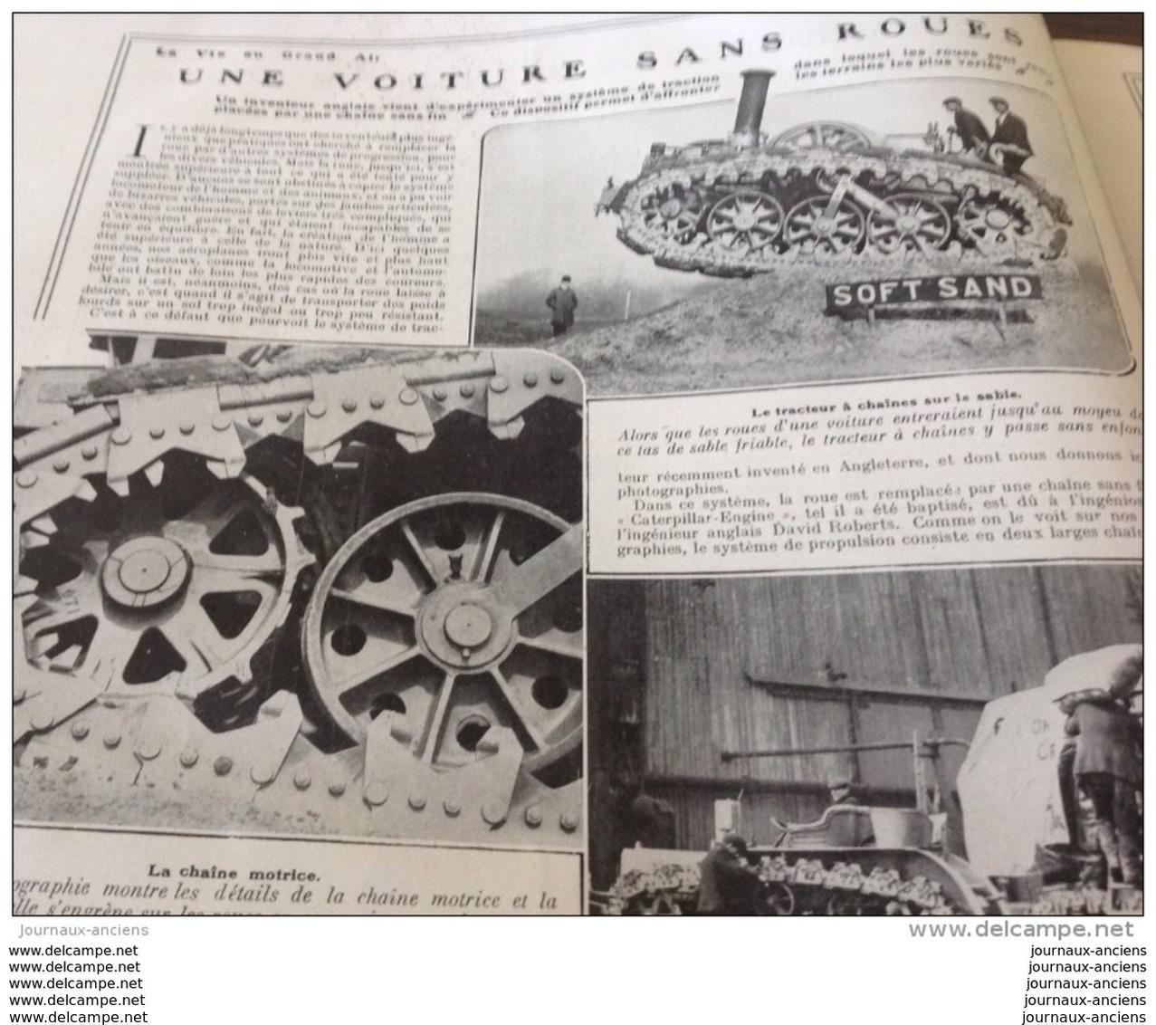1908 VOITURE SANS ROUES - CHAINE MOTRICE - LE CATERPILLAR ENGINE - DAVID ROBERTS - 1900 - 1949