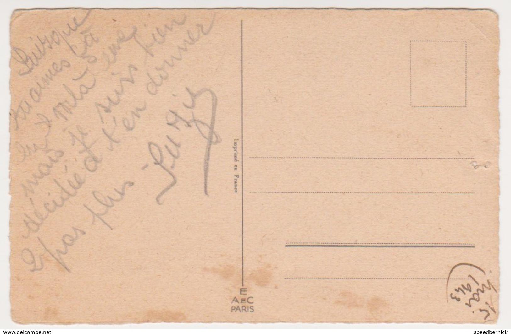 26800 Germaine Bouret 1941 -susucre Tomber Cheval Enfant Equitation ! Attention état ! AEC Paris - Bouret, Germaine
