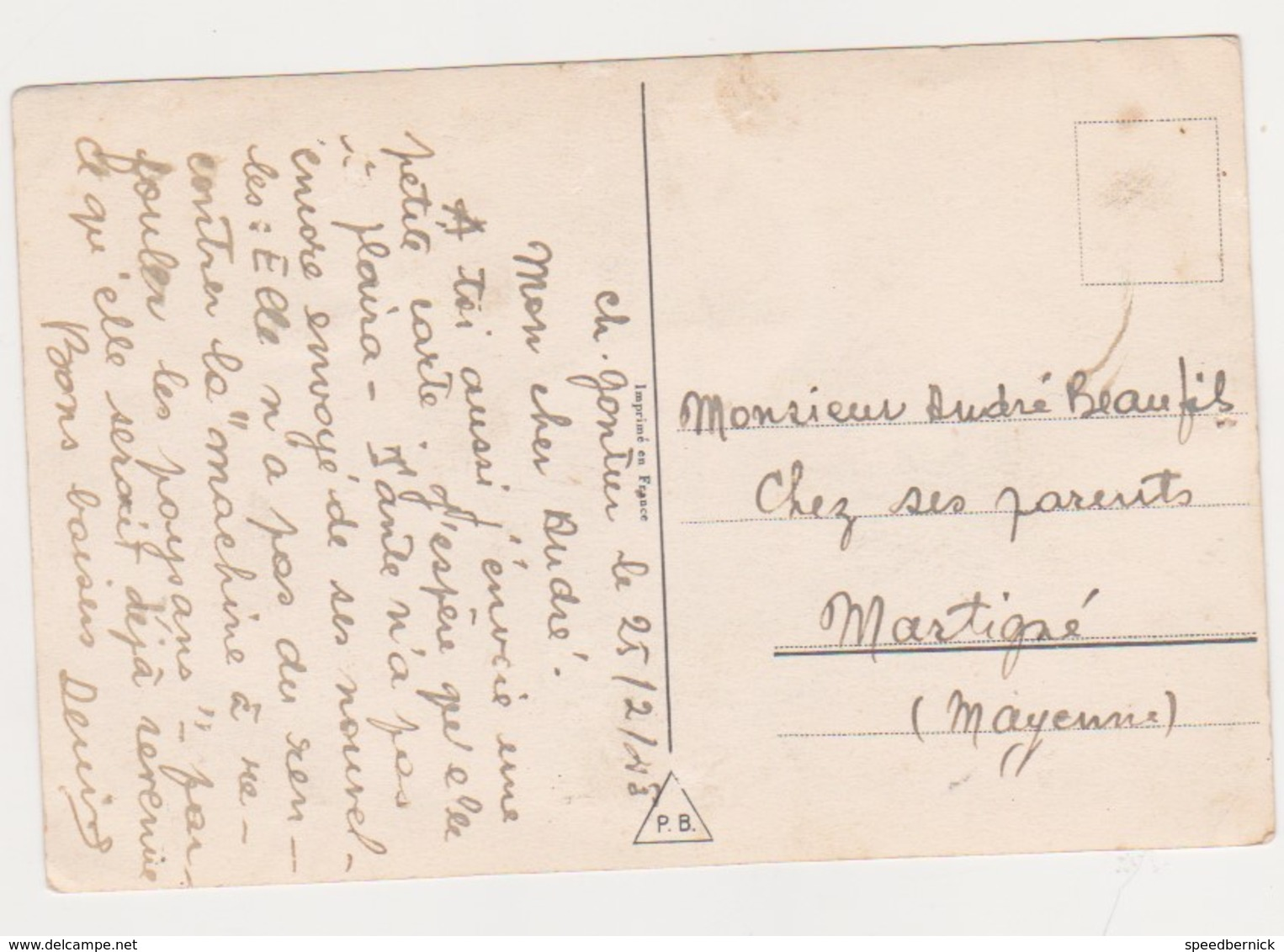 26802 Germaine Bouret 1943 -ramoneur Enfant Chat Gigot Toit ! Attention état ! AEC Paris - Bouret, Germaine