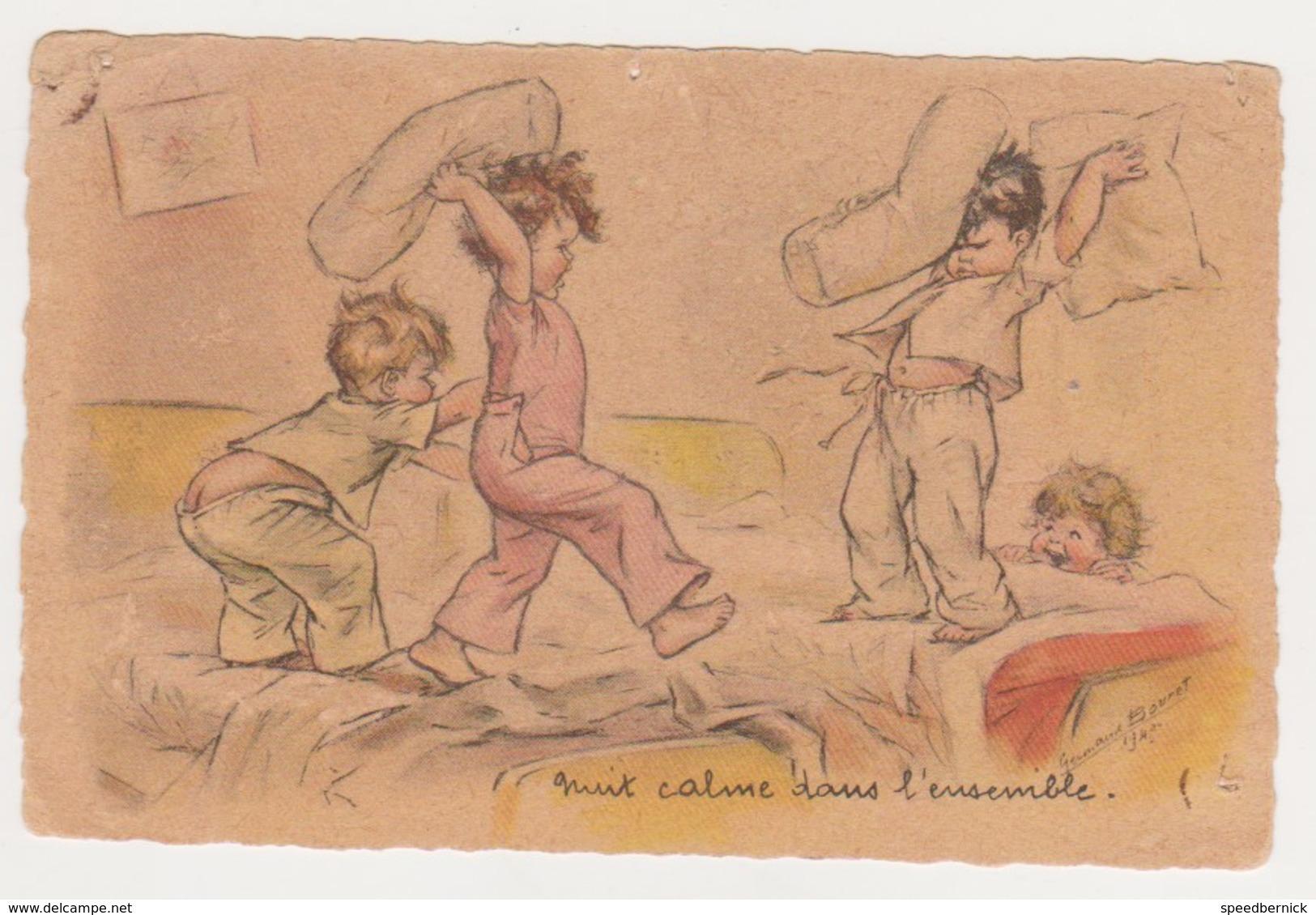26803 Germaine Bouret 1943 - Nuit Calme Polochon Enfant Bataille ! Attention état ! AEC Paris - Bouret, Germaine