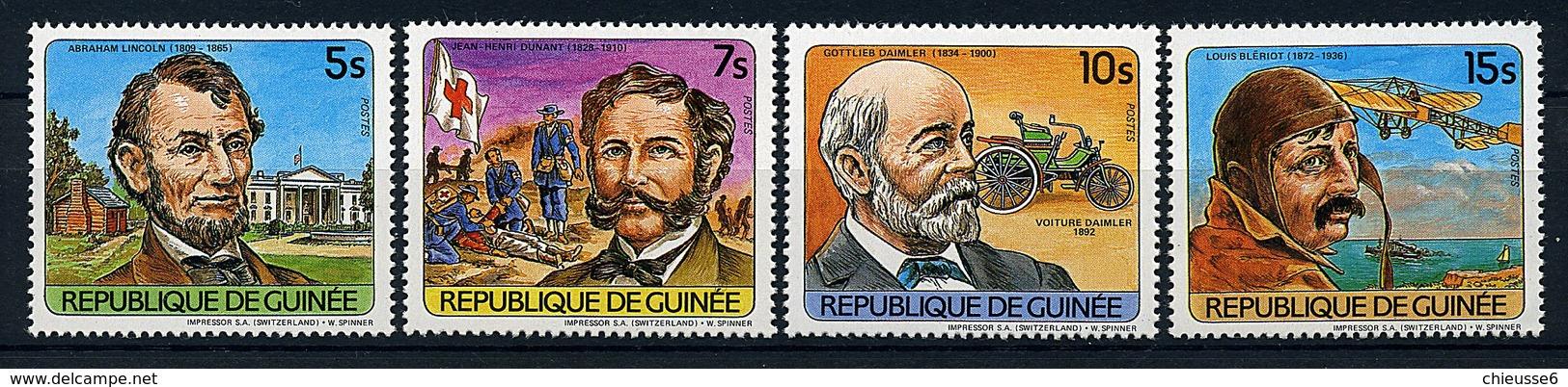 Guinée ** N° 740 à 743 - Personnages Célèbres - Guinea (1958-...)