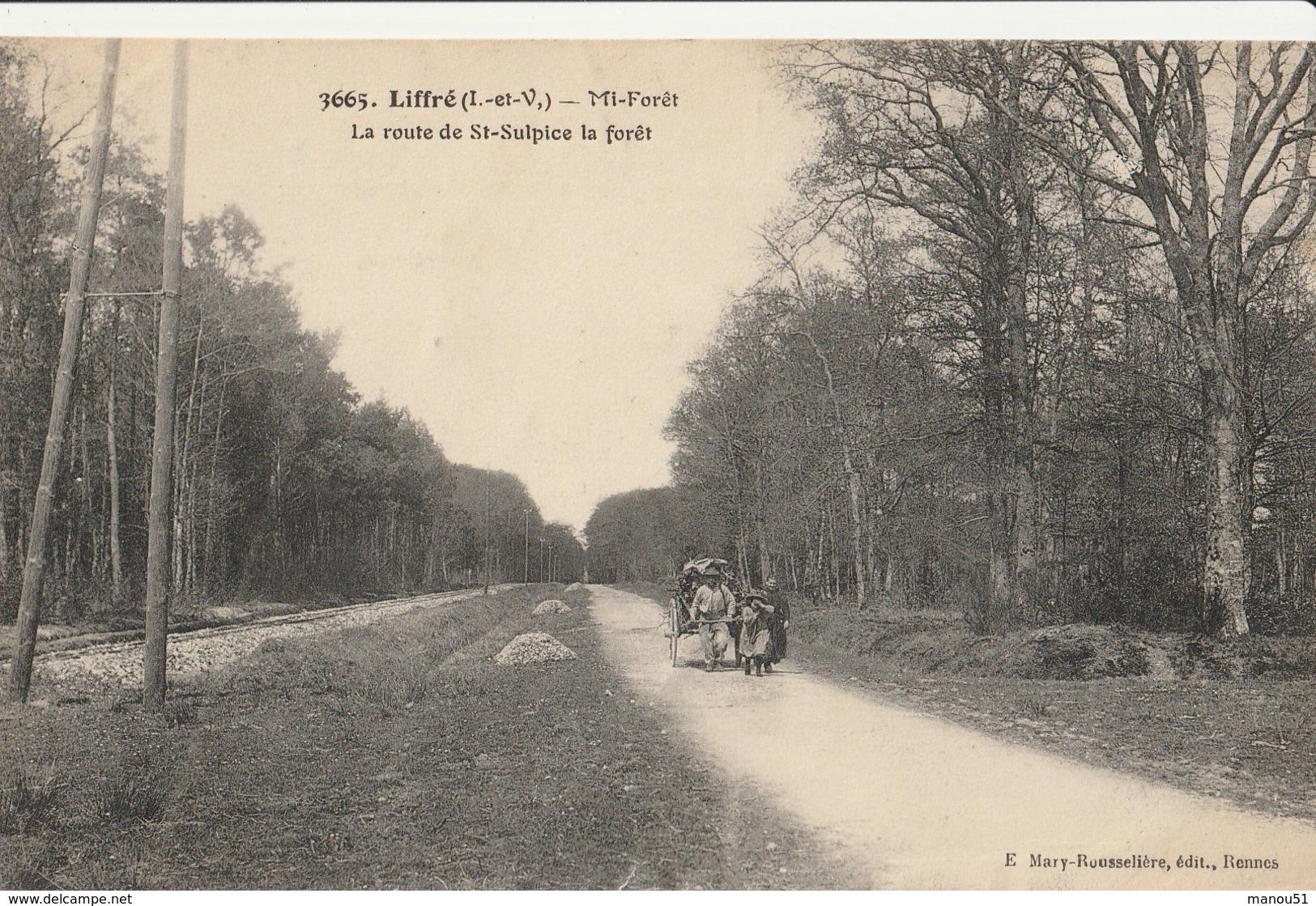 LIFFRE  Mi-forêt, La Route De St Sulpice La Forêt - Other Municipalities