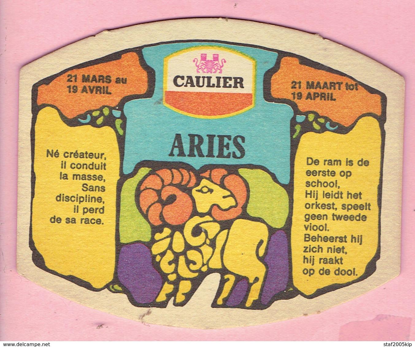 Bierviltjes - CAULIER - Horoscoop - ARIES - RAM - Sous-bocks