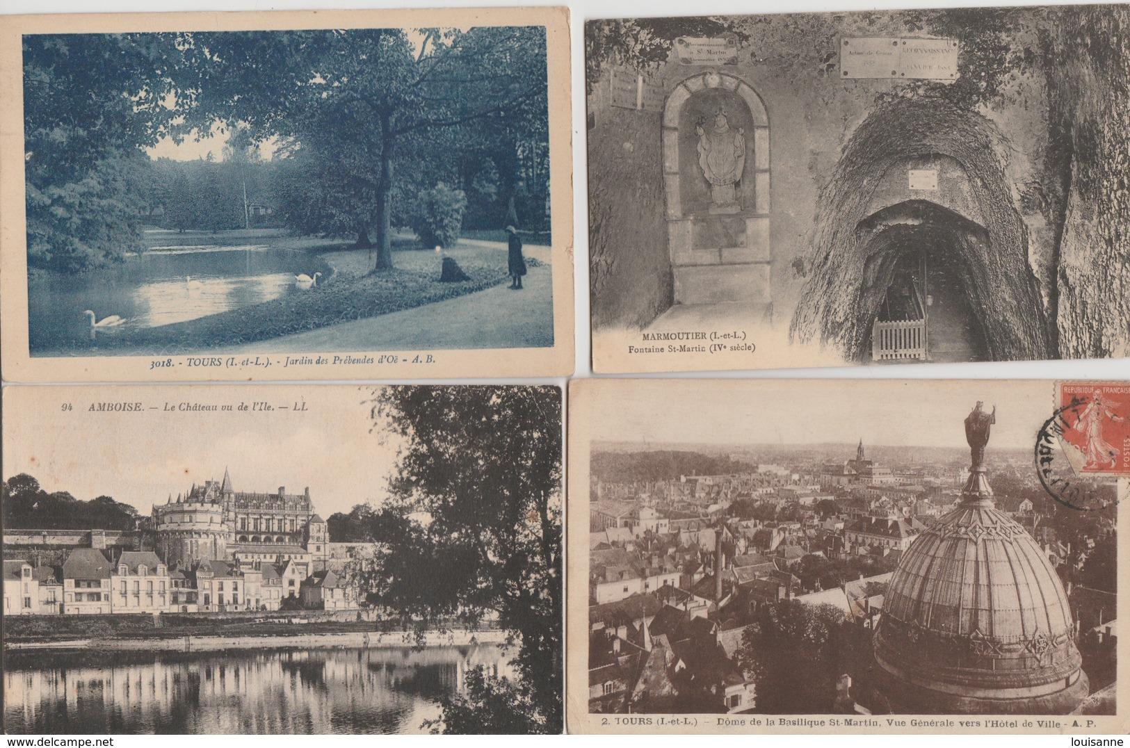 19 / 2 /106 -  500  CPA /CPSM  DU. DEPT   37  À. 26€ 50  +  PORT ( 8 €, 80  POUR  LA  FRANCE ) - Cartes Postales