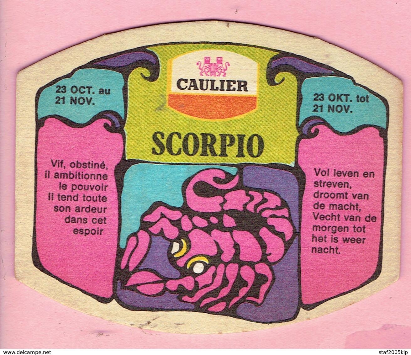 Bierviltjes - CAULIER - Horoscoop - SCORPIO - SCHORPIOEN - Sous-bocks