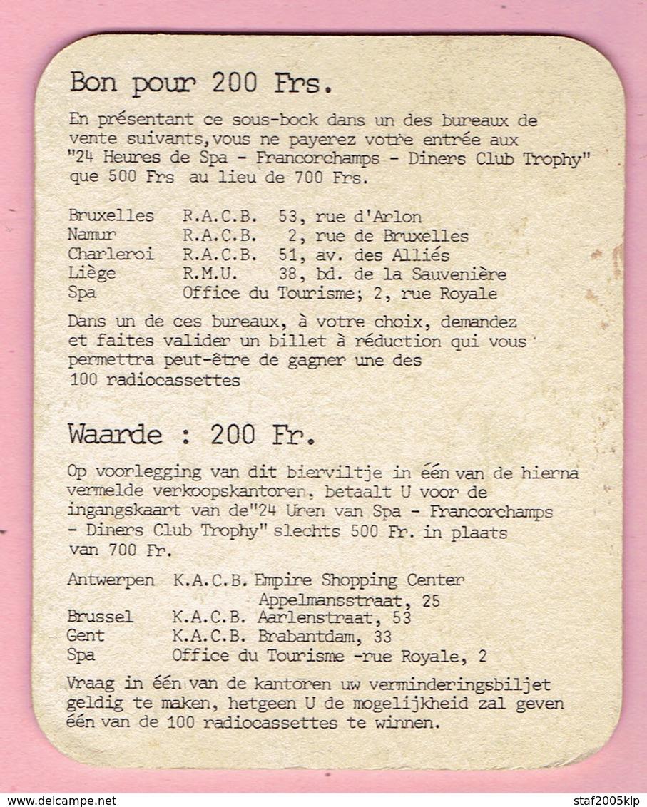 Bierviltje - STELLA ARTOIS - 24 H/U FRANCORCHAMPS - 1981 - Sous-bocks