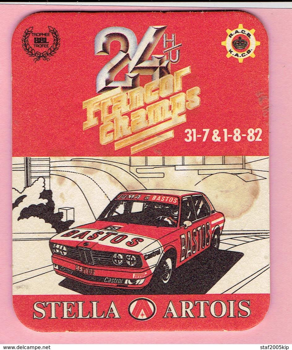 Bierviltje - STELLA ARTOIS - 24 H/U FRANCORCHAMPS - 1982 - Sous-bocks