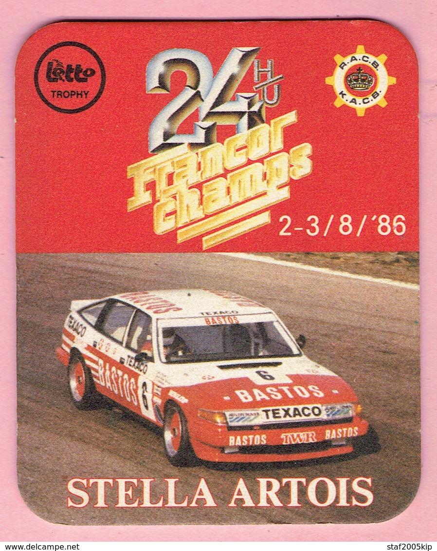 Bierviltje - STELLA ARTOIS - 24 H/U FRANCORCHAMPS - 1986 - Sous-bocks